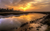 <h5>Highly Commended Experienced - Blythburgh Sunset by Wally Crowther</h5>