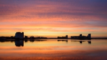 <h5>Sunset On Leith by Alan Raeburn</h5>