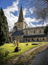 <h5>St Martins Church Womersley by Lorraine Spittle</h5>