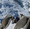 <h5>Aspiring - Climbers On The Cosmique Arete by Sylvia Morrow</h5>