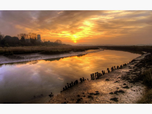 Highly Commended Experienced - Blythburgh Sunset by Wally Crowther